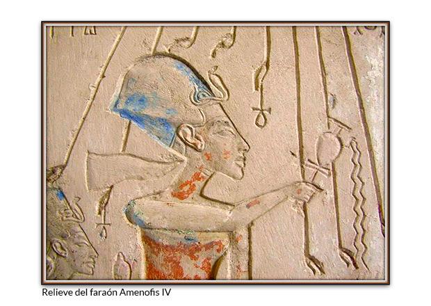 Relieve del faraón Amenofis IV