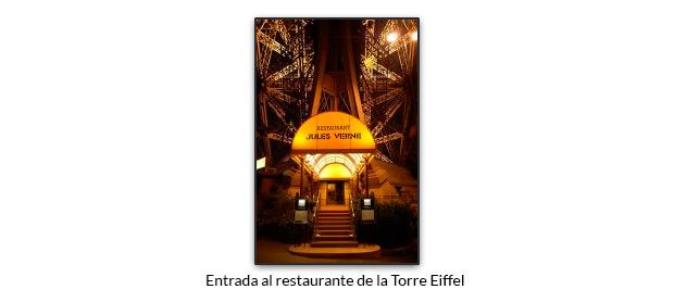 Entrada al restaurante de la Torre Eiffel