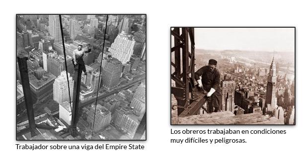 Trabajador sobre una viga del Empire State
