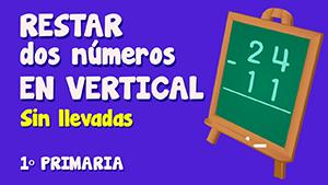 Resta sin llevadas de dos números de dos cifras en vertical (I)