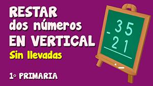 Resta sin llevadas de dos números de dos cifras en vertical (II)
