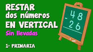 Resta sin llevadas de dos números de dos cifras en vertical (III)
