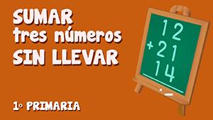 Suma de tres números sin llevadas (I)