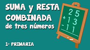 Suma y resta combinada de tres números (I)