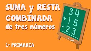 Suma y resta combinada de tres números (II)