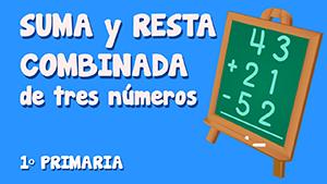 Suma y resta combinada de tres números (III)
