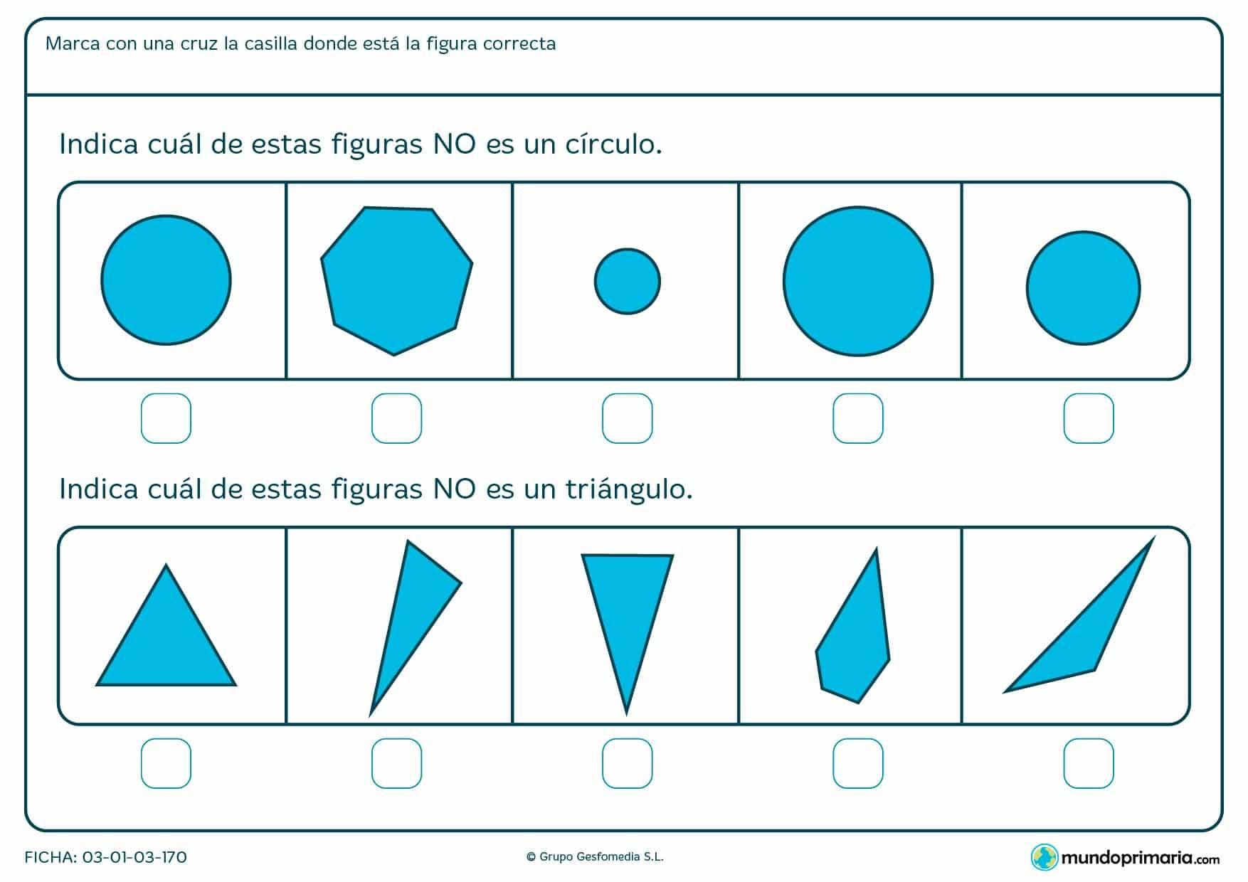 Ficha de estructuras para niños de 6 años. Ayuda para los deberes en niños