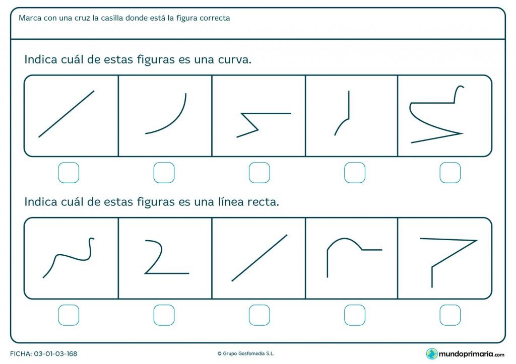 Ficha de líneas para primaria