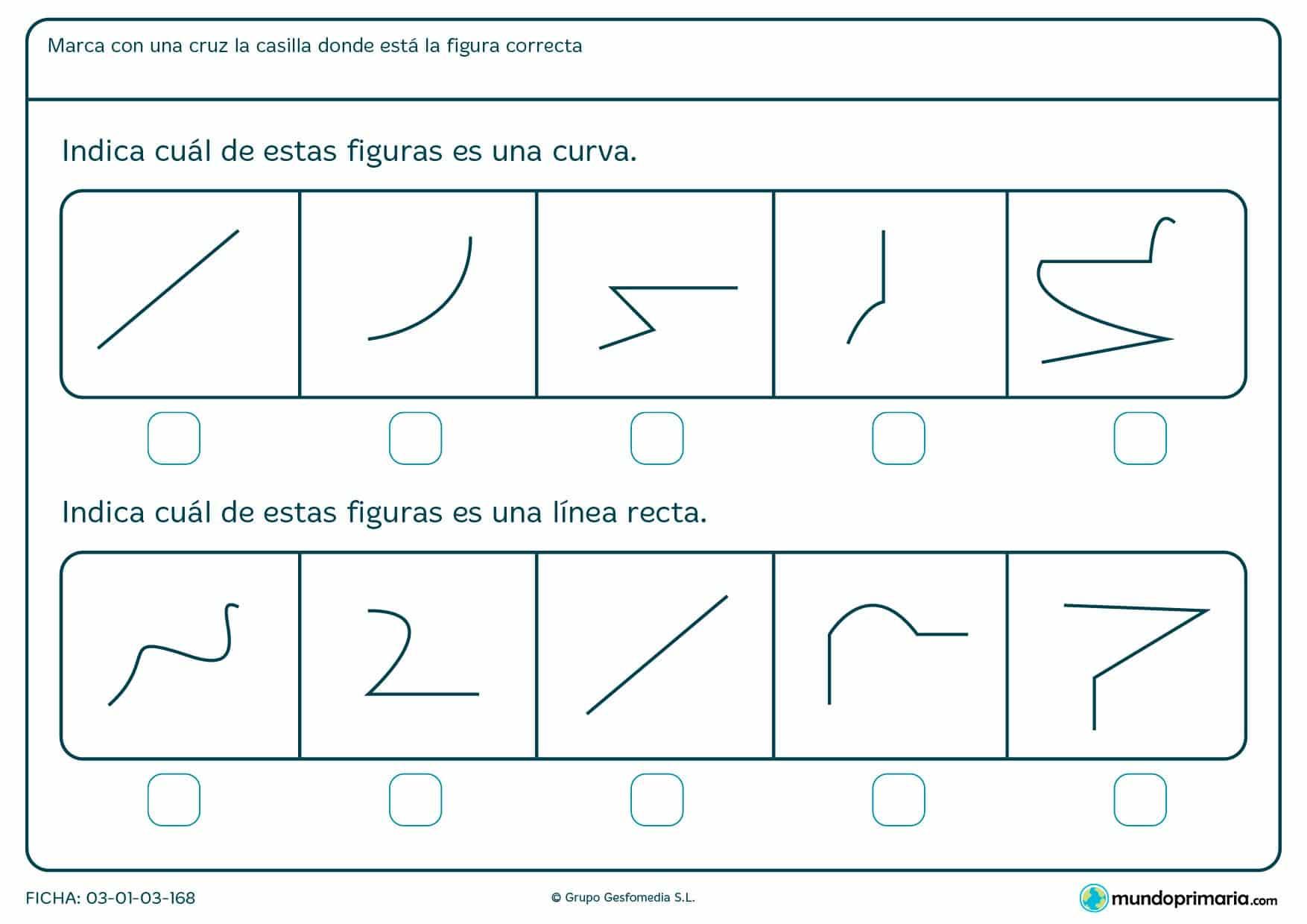 Ficha de líneas para primaria: Puedes descargar estas fichas de líneas para imprimir gratis