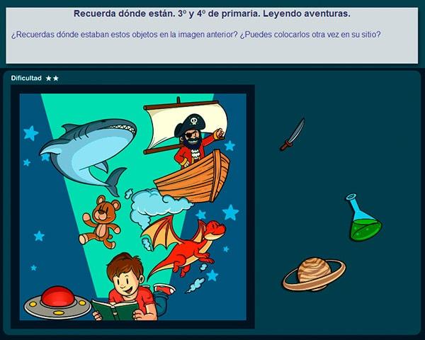 Los juegos de atención memoria y lógica son ejercicios de estimulación temprana para niños de primaria que desarrollan la capacidad intelectual.