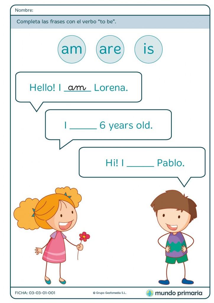 Ficha de saludar para primaria