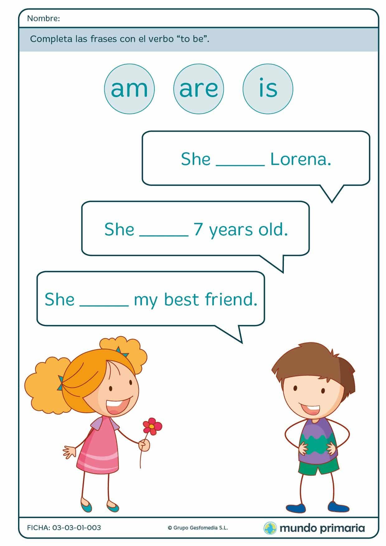 Ficha de i am para primaria
