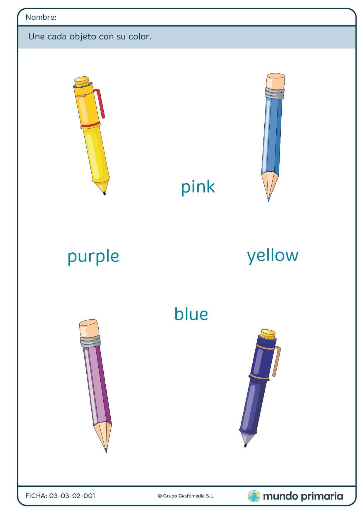 Ficha de color para niños de primaria