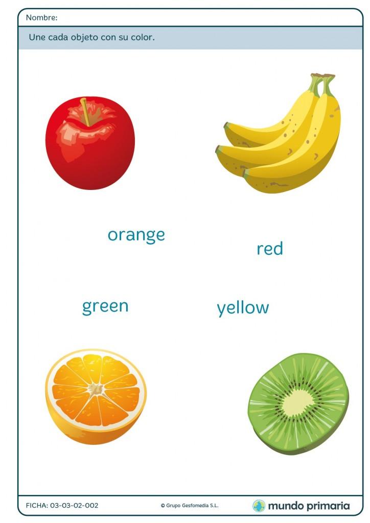 Ficha de frutas para primaria