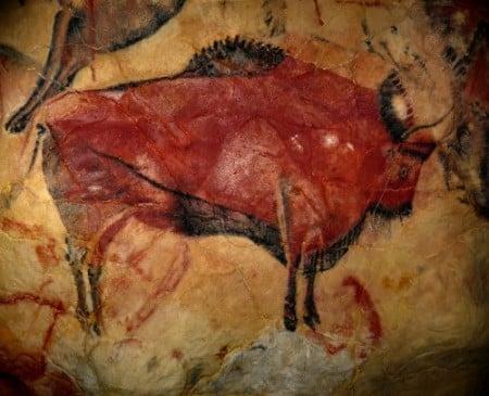 Bisonte pintado en Altamira