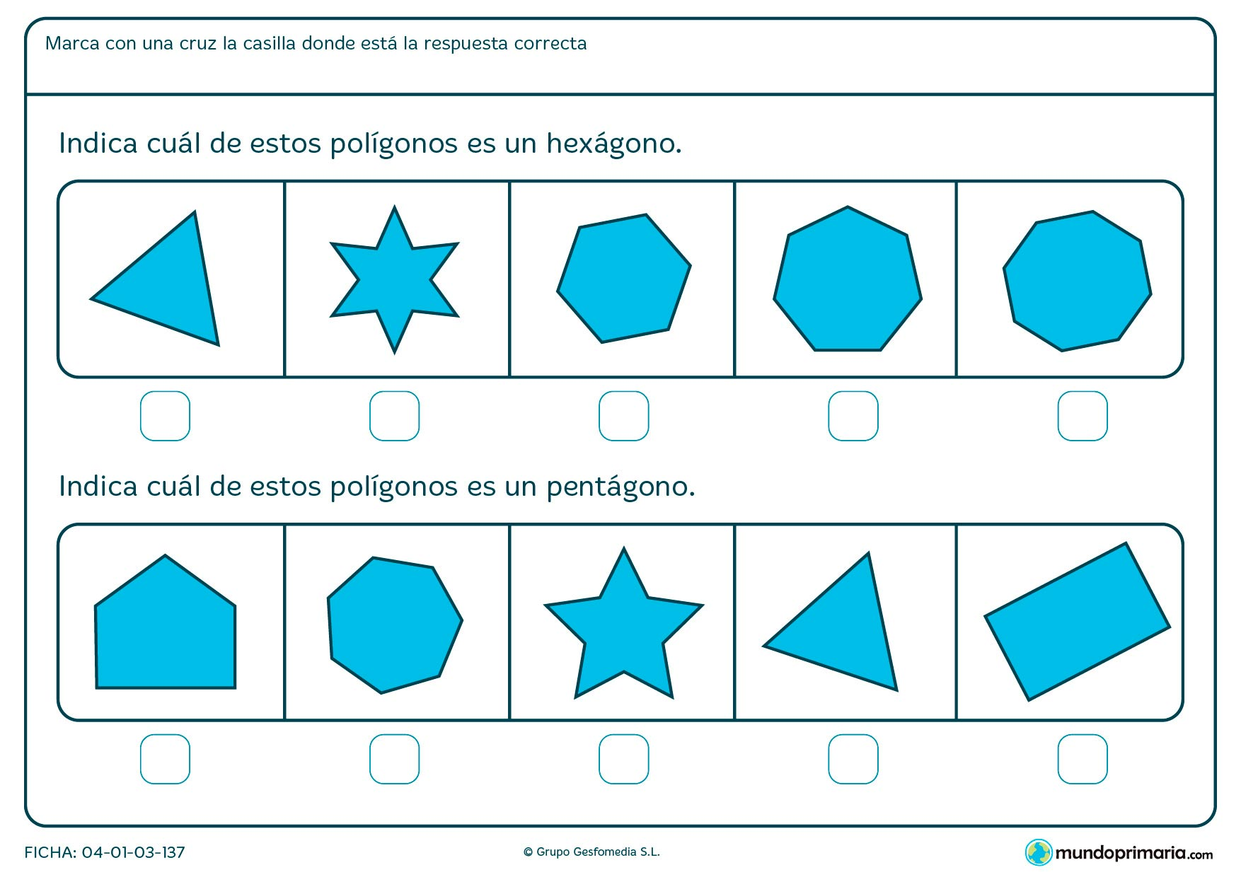 Ejercicios geometría para segundo primaria