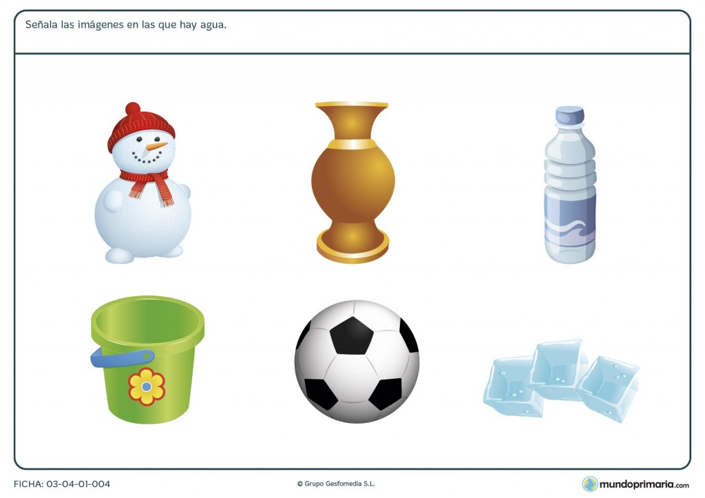 Ficha de hielo para niños de 6 a 7 años