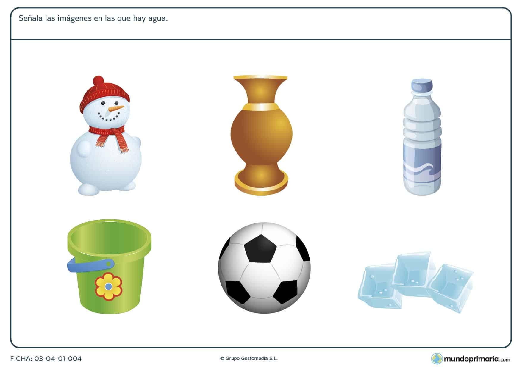 Ficha de hielo para conocer como el agua se hace hielo. Ficha de hielo para niños con ejercicios para aprender