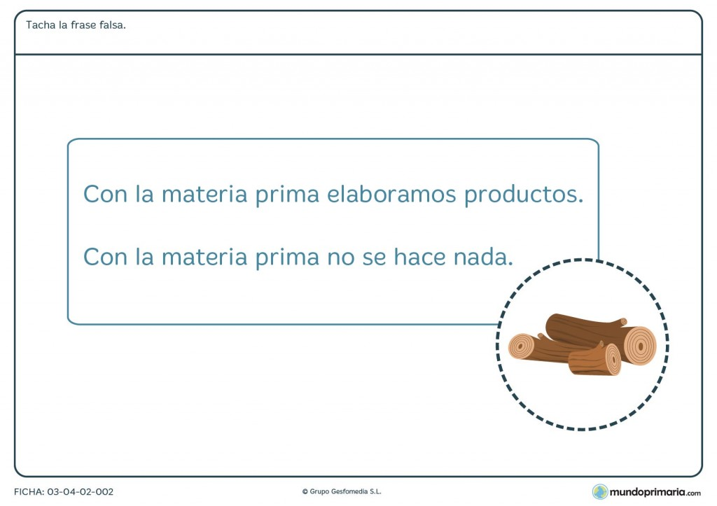 Ficha de la elaboración de productos para primaria