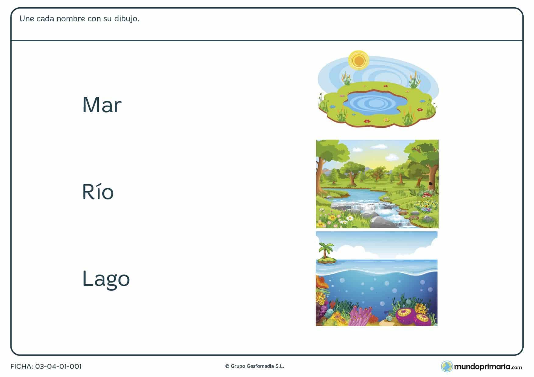 Ficha de la materia prima con ejercicios para niños sobre la materia prima