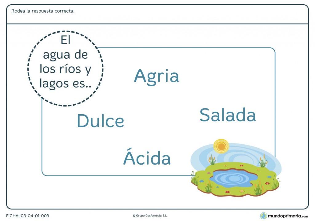 Ficha de ríos para primaria