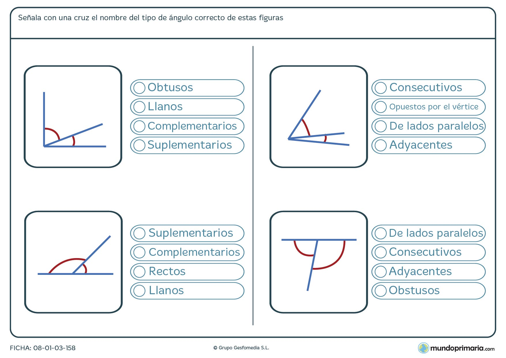 Ejercicios geometría para sexto primaria