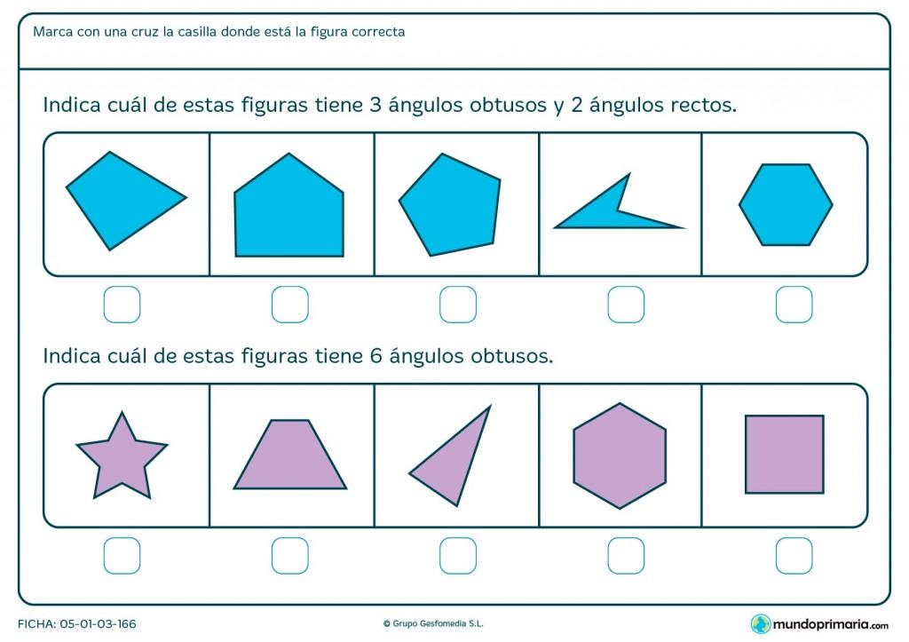 Ficha de ángulos de 90 grados para primaria