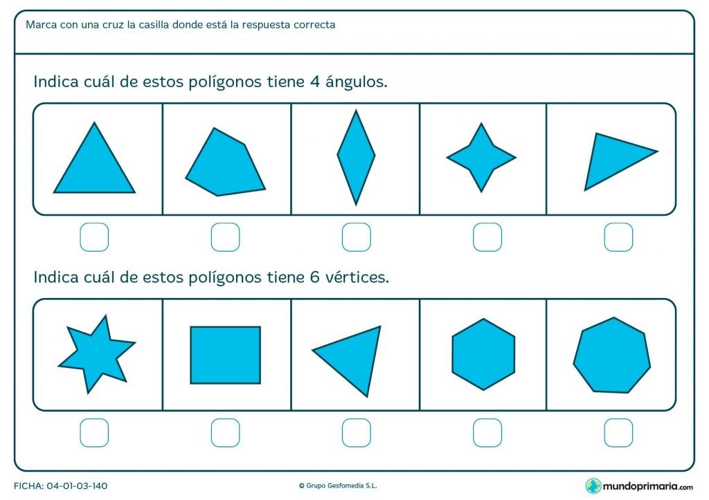 Ficha de ángulos y vértices para primaria