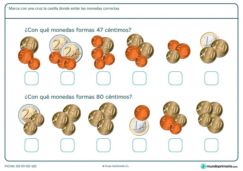 Ficha de adición de monedas