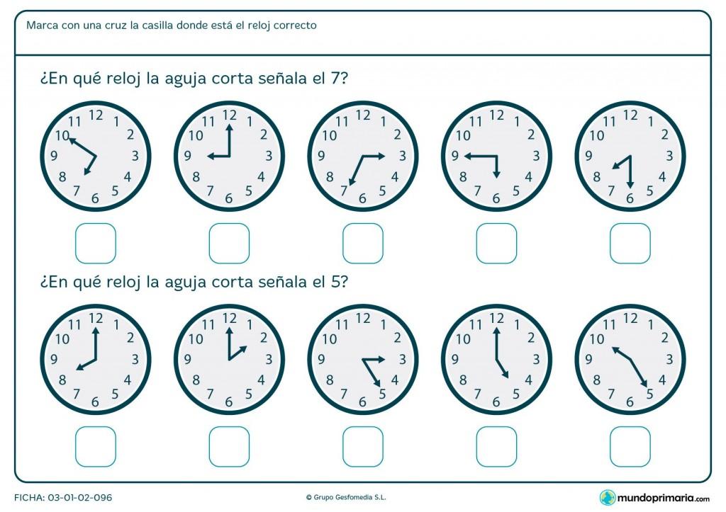 Ficha de aguja de reloj