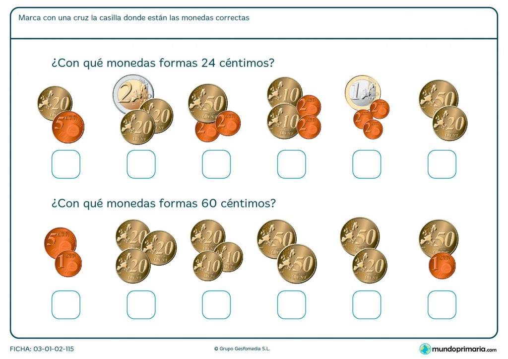 Ficha de céntimos