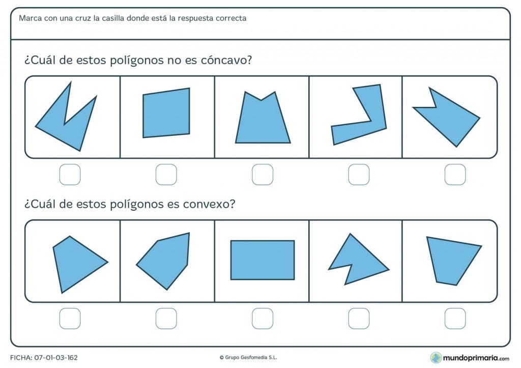 Ficha de cóncavos o convexos para primaria