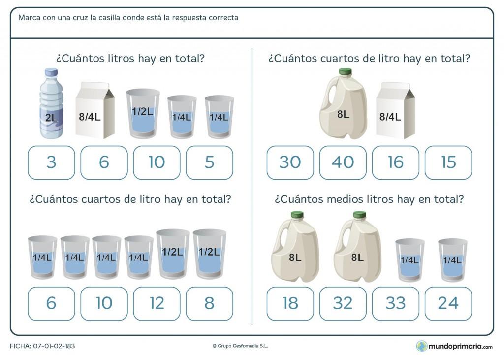 Ficha de capacidad de envases pesa para primaria