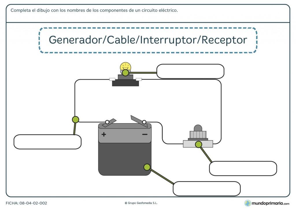 Ficha de componentes del circuito eléctrico para primaria