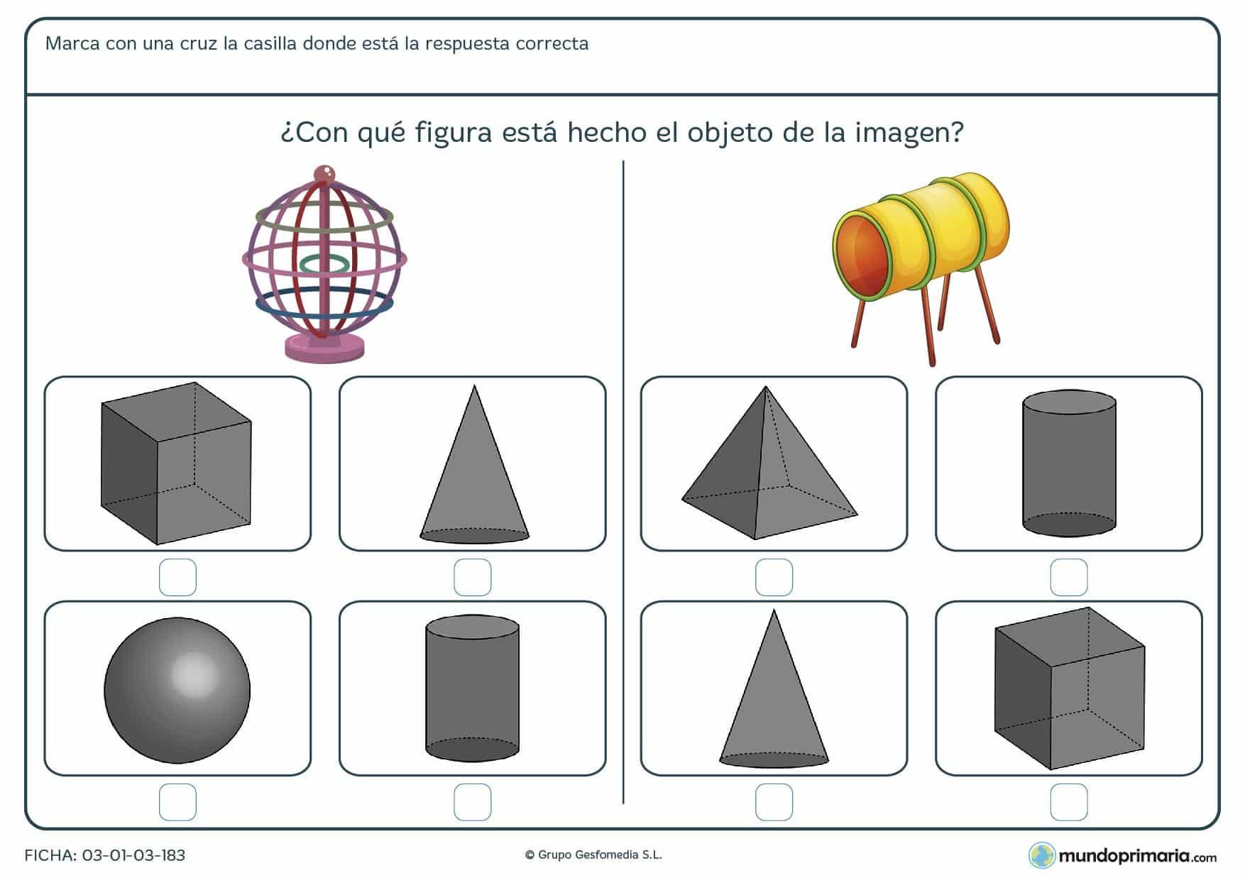 Ficha de conos para niños de 6 a 7 años que necesiten apoyo escolar
