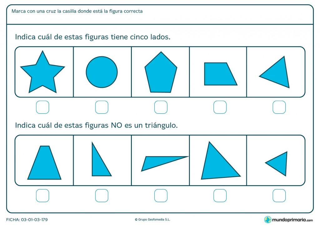 Ficha de contar lados para niños de 6 y 7 años