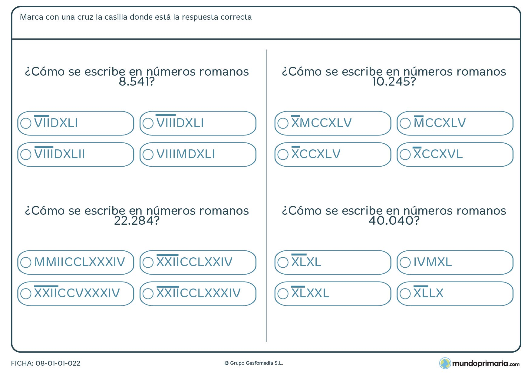 Convertir números en números romanos