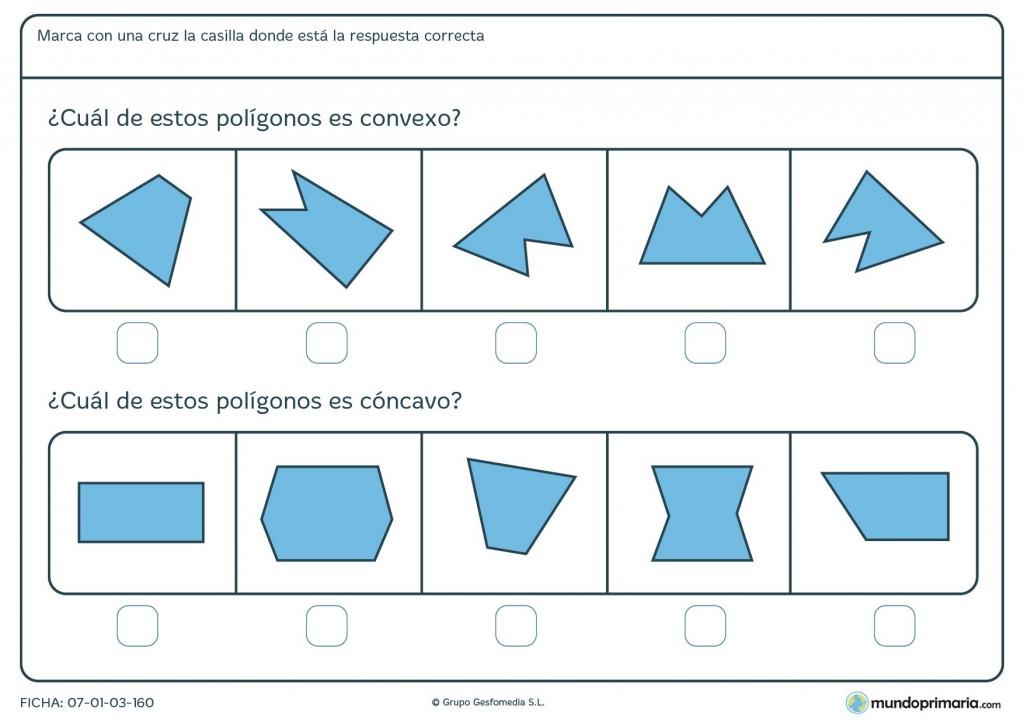 Ficha de convexos para niños de 10 años