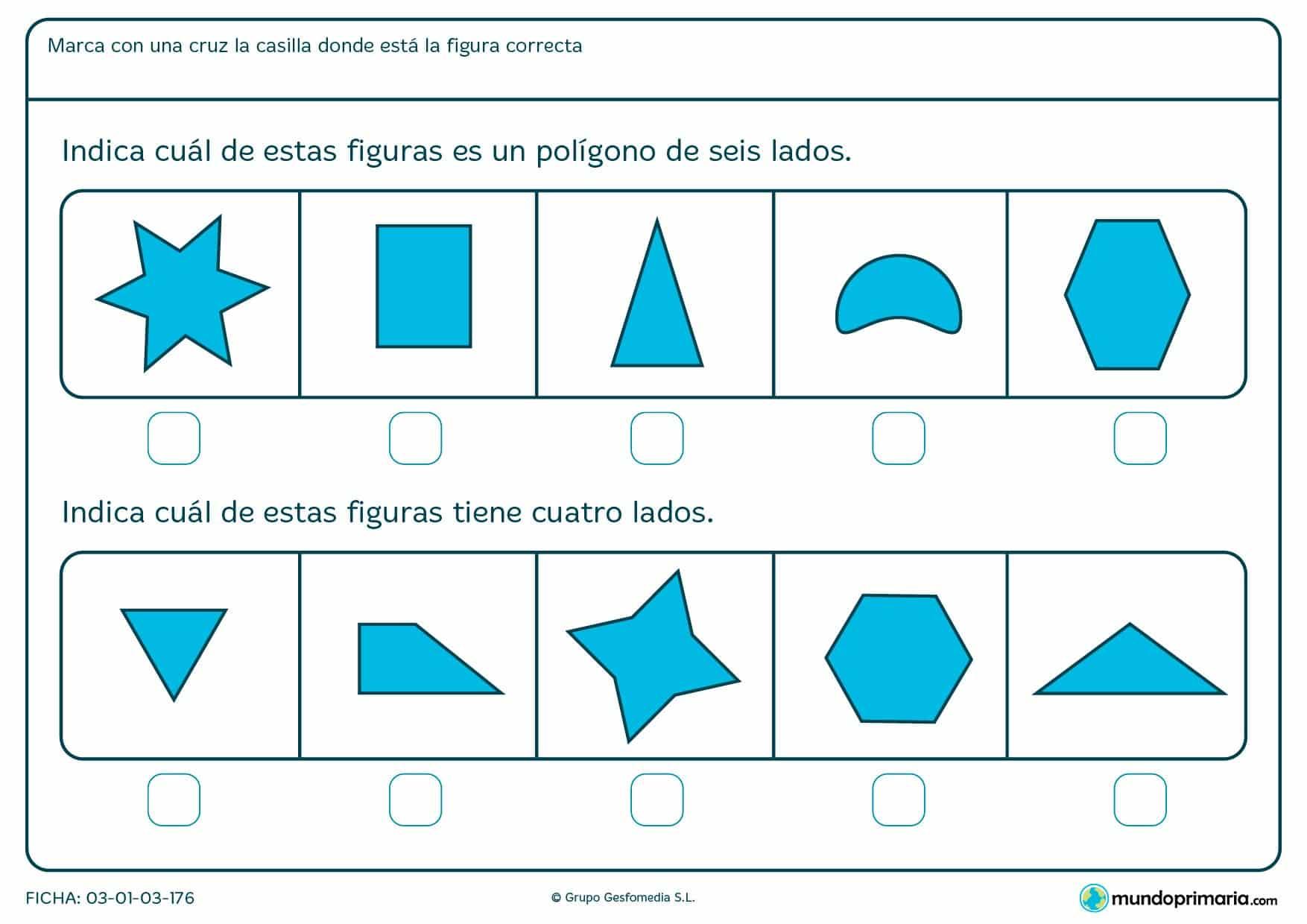 Ficha de cuatro lados para apoyar los deberes de los niños de primaria