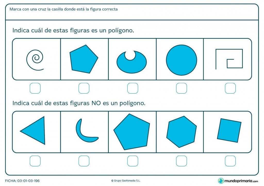 Ficha de cuerpos poligonales para primaria