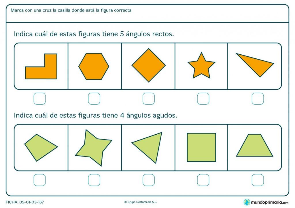 Ficha de diferentes ángulos para primaria