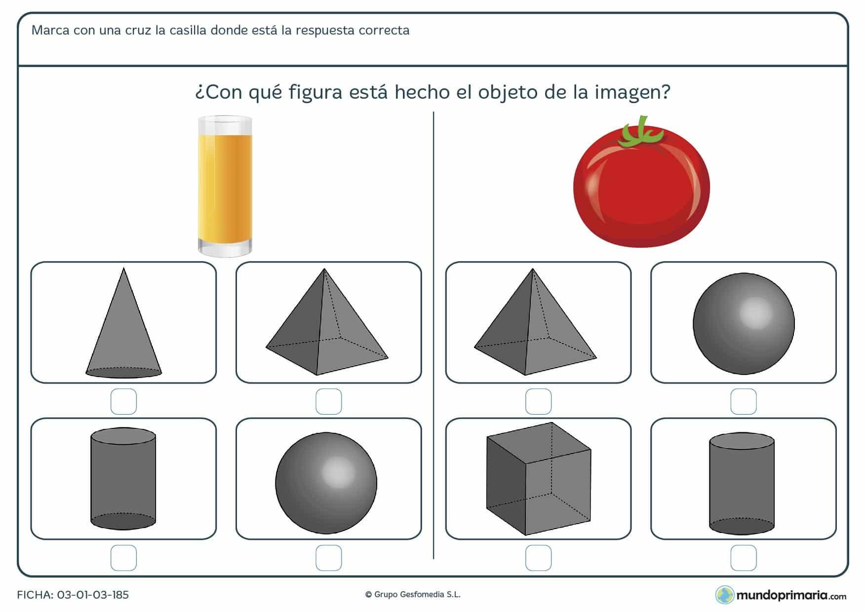 Ficha de esferas para que los niños de primer curso de primaria puedan afianzar conceptos