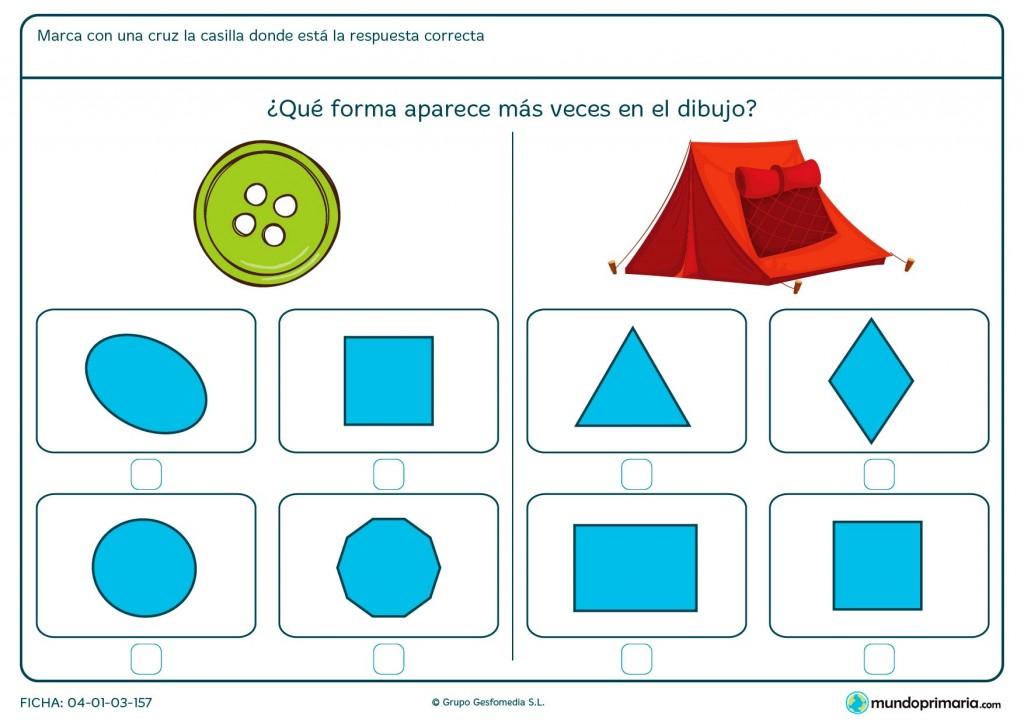Ficha de forma de círculo para primaria