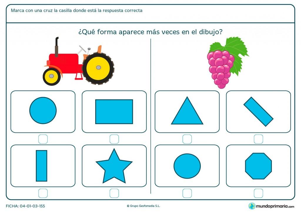 Ficha de forma de rectángulo para niños de primaria