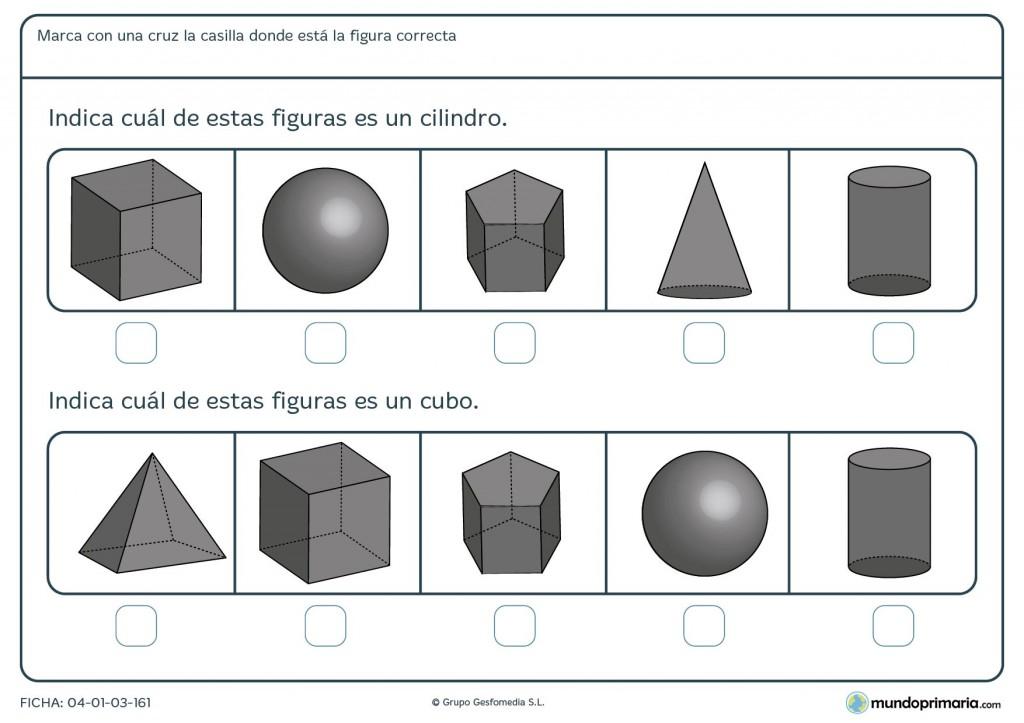 Ficha de identificar cilindro para primaria