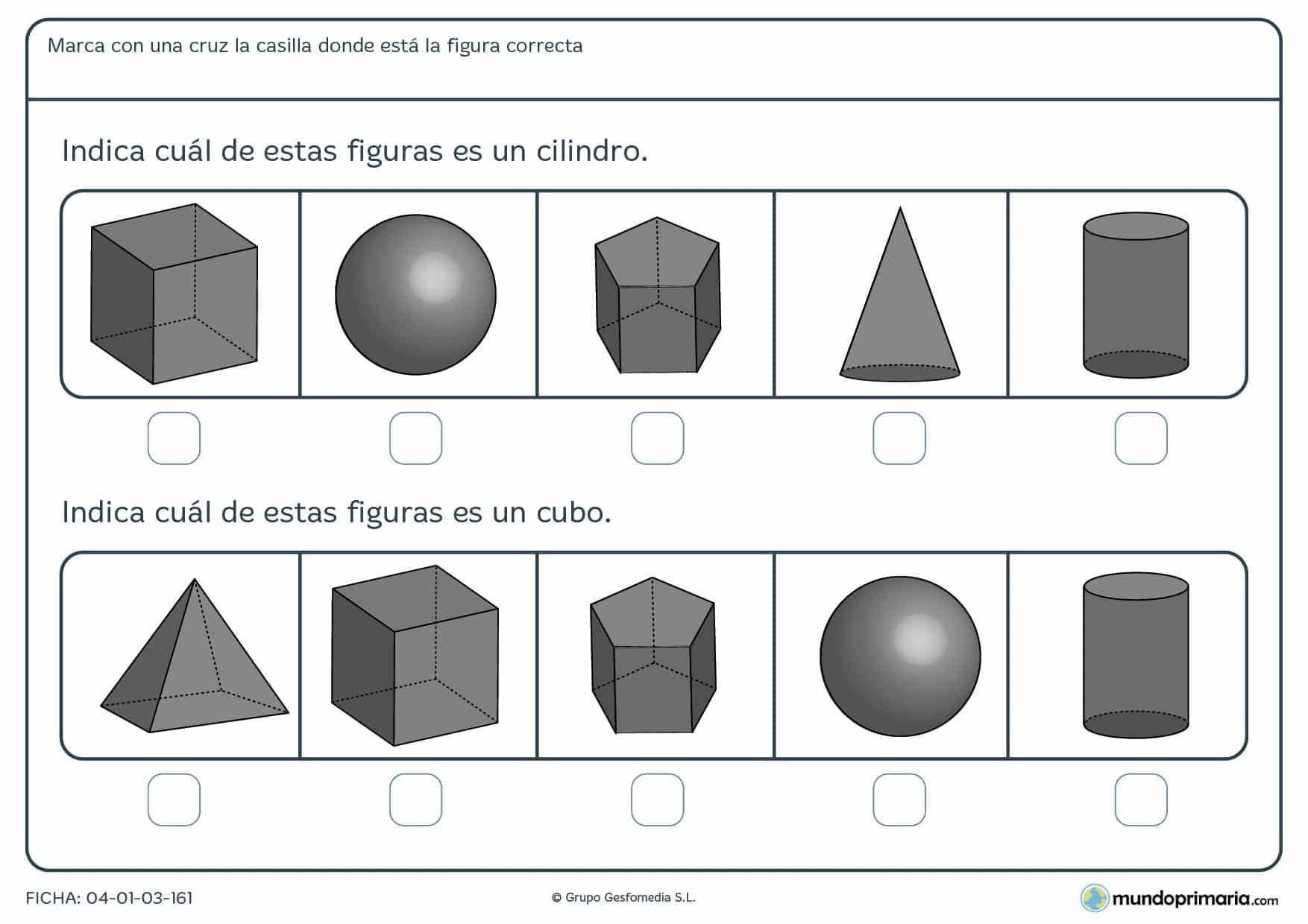Primaria ejercicios Geometría segundo