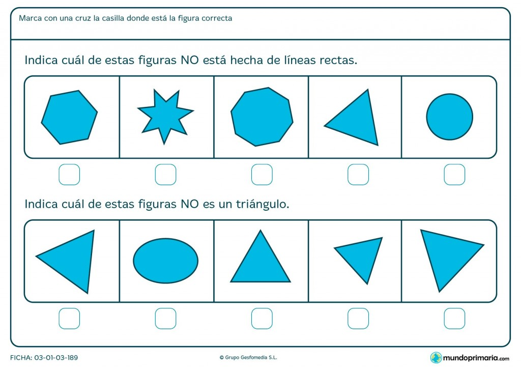 Ficha de líneas rectas para niños de 6 y 7 años