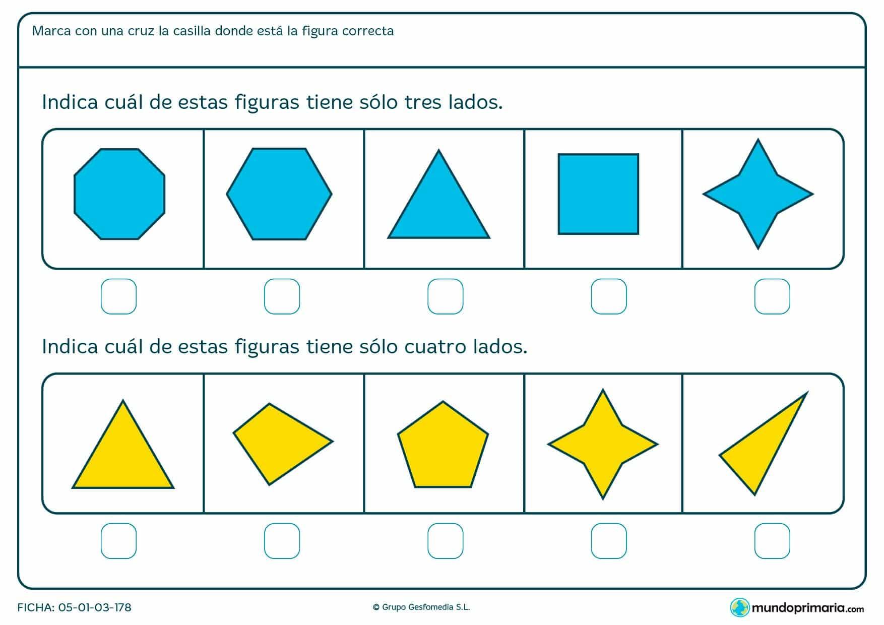 Primaria ejercicios Geometría tercero