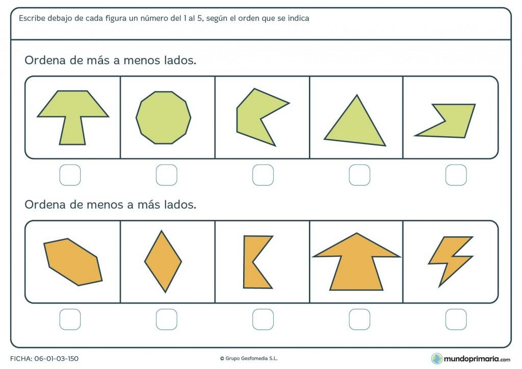 Ficha de lados para niños de primaria
