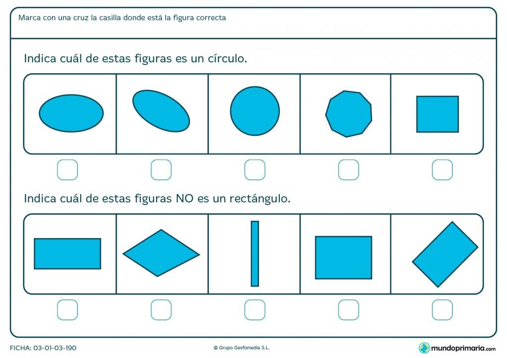 Ficha de los rectángulos para niños de primaria